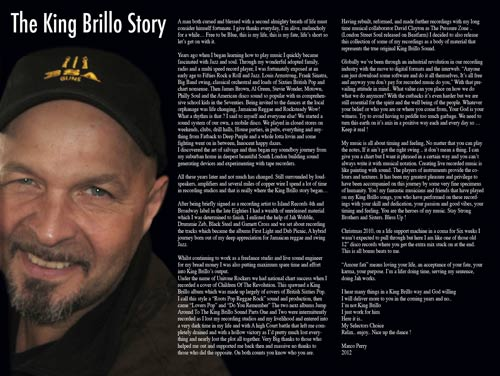 Read the King Brillo Story